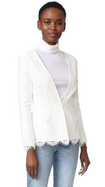 CUPCAKES AND CASHMERE Tess Fitted Lace Blazer. #cupcakesandcashmere #cloth #dress #top #shirt #sweater #skirt #beachwear #activewear