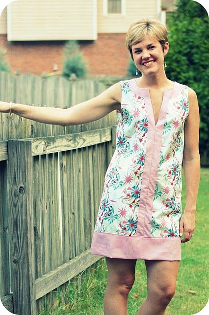 DIY: Color Block Tunic (with free pattern!) This might be too mod for my style, but it's so cute!