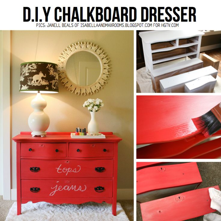 diy chalkboard dresser - I seriously need this. Z always complains that he can't figure out the kids' dresser drawers.