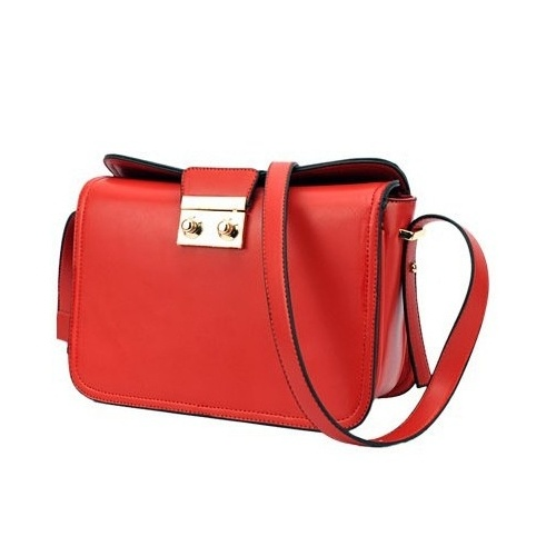 Solid Red Zipper PU Fashion Bags $9.20