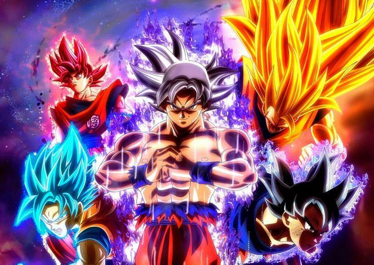 Goku's Forms (Super Saiyan 3,Super Saiyan God,Super Saiyan Blue,Ultra Instinct, Mastered Ultra Instinct)