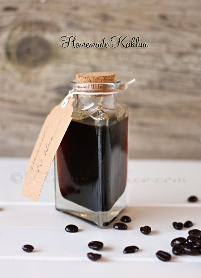 Homemade Kahlua - simple & easy. Plus...you can omit the alcohol & it still tastes amazing.