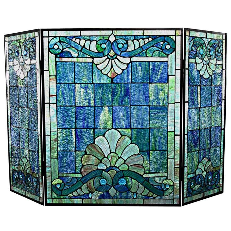 25 best Stained Glass Spark Fireplace Screens images on Pinterest ...