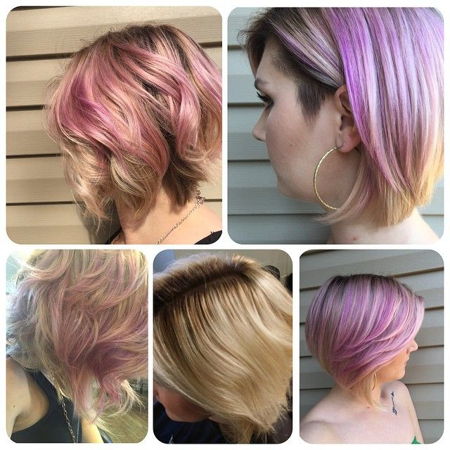 Sooo this happened!  I'm so I love with it ☺️. I love how it's different colors in different lighting. Thanks so much Amber! #hair #hairart #haircut #chickfade #undercut #hairofig #haircolor #pinkhair #hairstylist #hairtransformations #blondes #shorthair #shorthairdontcare