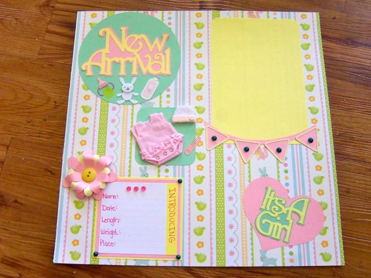 37 Best Scrapbook Images On Pinterest Baby Girl Scrapbook Baby