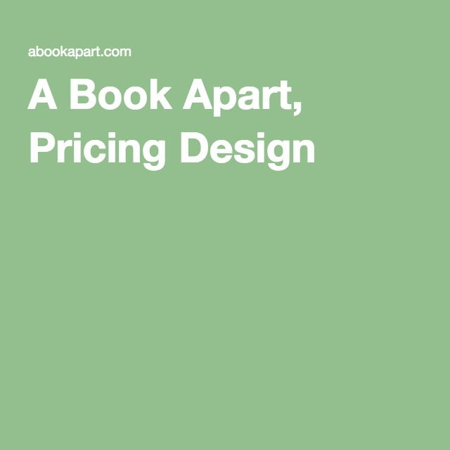 A Book Apart, Pricing Design