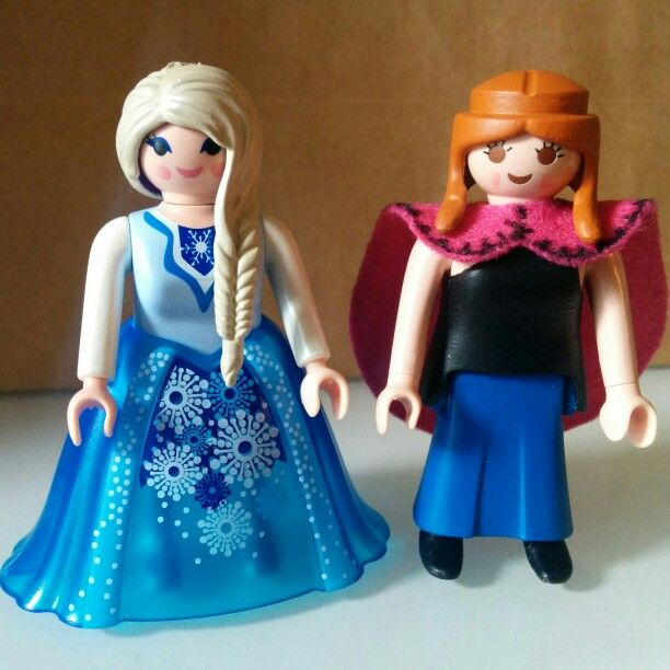 Custom Playmobil Elsa & Anna, Frozen