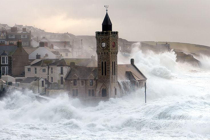 Porthleven Storm by Lloyd W.A. Cosway - Storm surge at Porthleven, Cornwall 5/2/2014.
