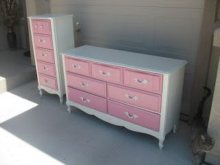 Shabby Redo For You !: French Provincial to Chic Shabby Sweet Girls Dresser Set!