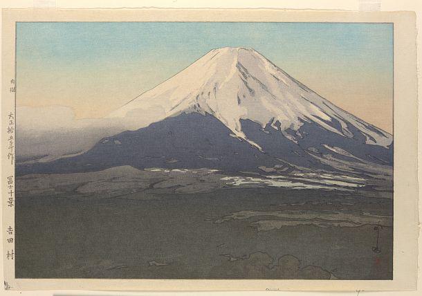 Ten views of Fuji - Yoshida Mura | Yoshida Hiroshi | Japanese art | Print | 1926 | Taisho era | Freer and Sackler | FSC-GR-223