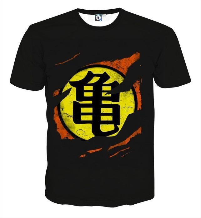 Dragon Ball Master Roshi Symbol Kanji Japanese Cool Design T Shirt Dbz Masterroshi Tshirt Camisas Estampadas Camisetas Estampadas Camisetas