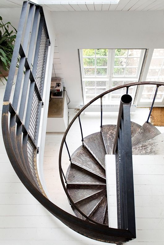 circular-metal-staircase