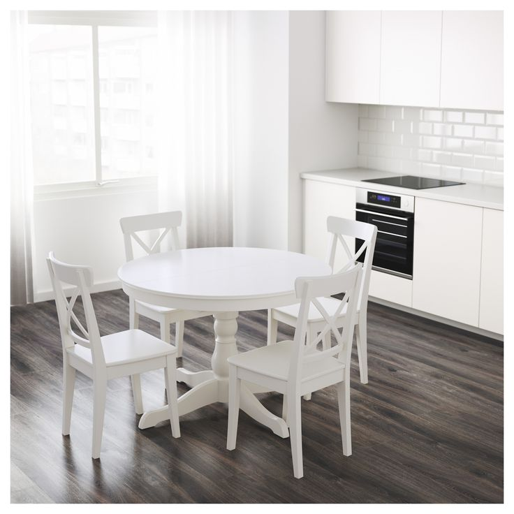 IKEA INGATORP extendable table 1 extension leaf included.