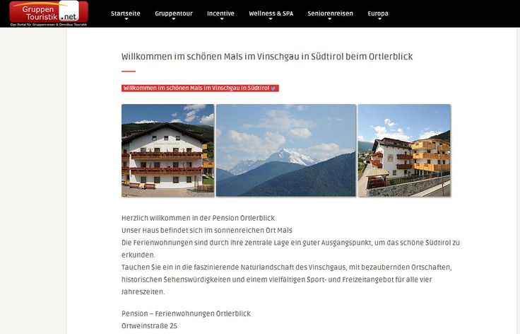 Mals im Vinschgau in Südtirol beim Ortlerblick http://dld.bz/eERgN