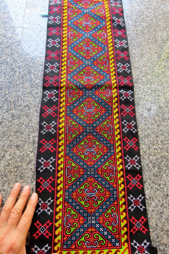 Vintage Hmong fabric Handmade Fabrics handmade by dellshop on Etsy, $11.99
