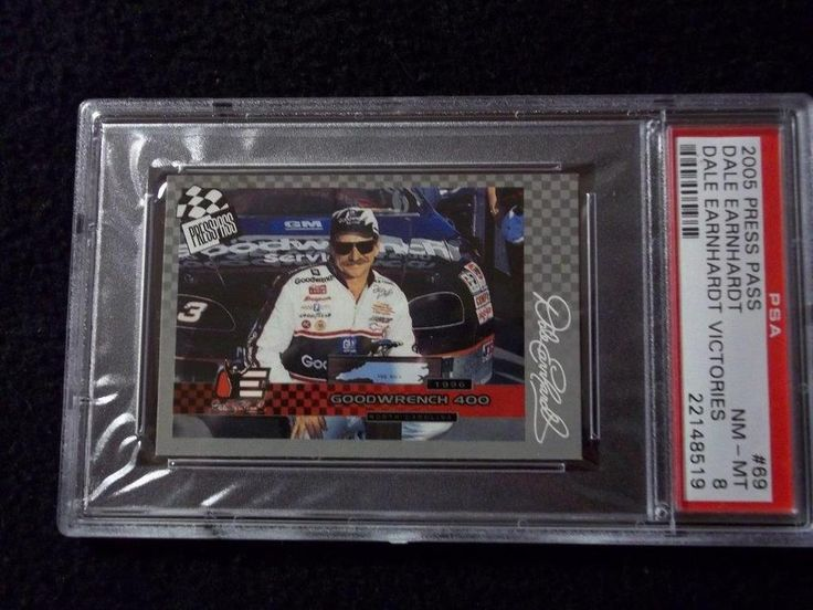 2005 Press Pass #69 Dale Earnhardt Graded PSA NM-MT 8 NASCAR Collectible