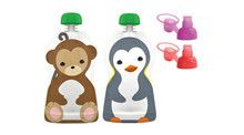 Aussie Bubs - Squooshi Pouch & Sip'n Combo Pack Contains 2 x Large pouches with 2 x Soft Tops  Pack - Ziplock Bag (Online)