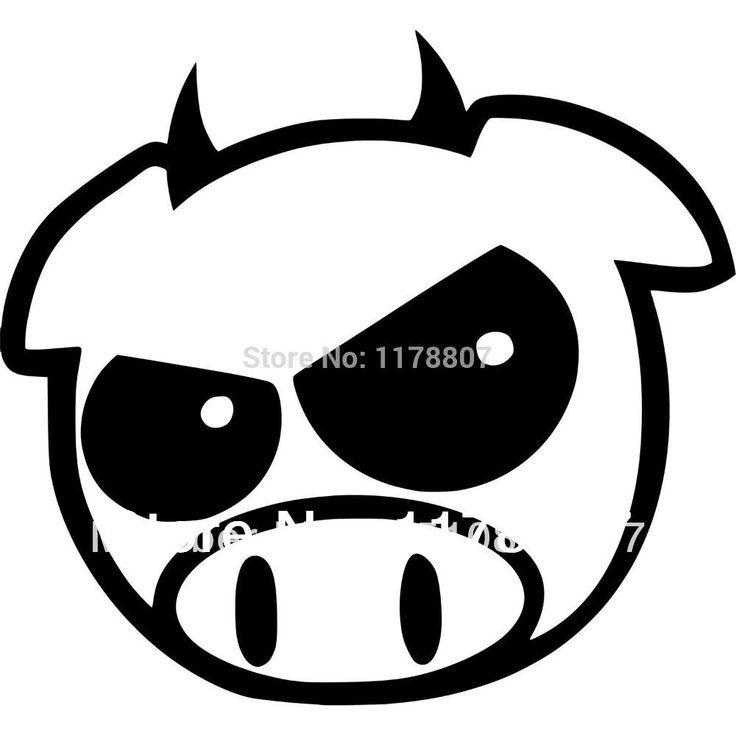 Дьявол Свинья Япония Гонки JDM Наклейки Для Автомобилей Стеклоочиститель Грузовик ВНЕДОРОЖНИК Бампер Автоматические Двери Для Ноутбука Kayak Каноэ Винила 8 Цвета