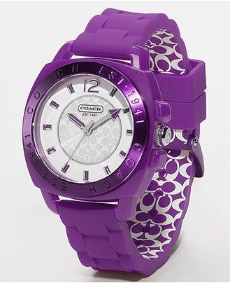 Purple Coach Watch