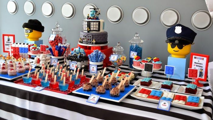 LEGO City Cake Ideas   The Lego City Police party ideas and elements to look for from this ...