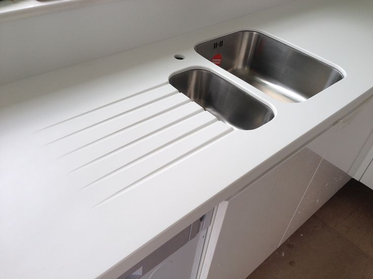 Corian Work Surface White With Upstand Google Search
