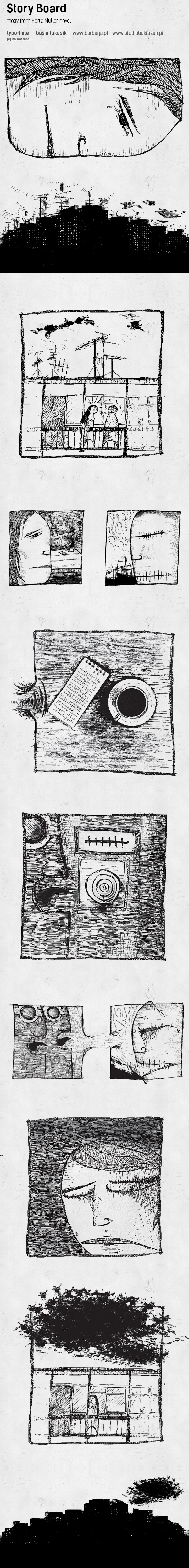 Story board from herta muller (nobel prize) novel. komix about desire, love, and lost   ...............  www.studiobaklazan.pl  www.barbarja.pl