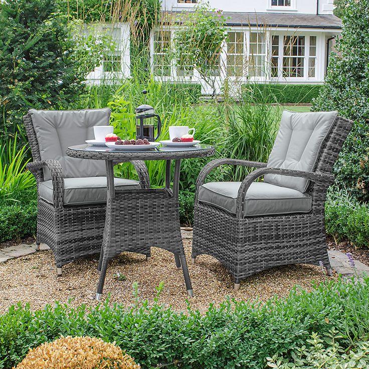 Olivia 2 Seat Bistro Set - Grey | Bistro set, Outdoor ...