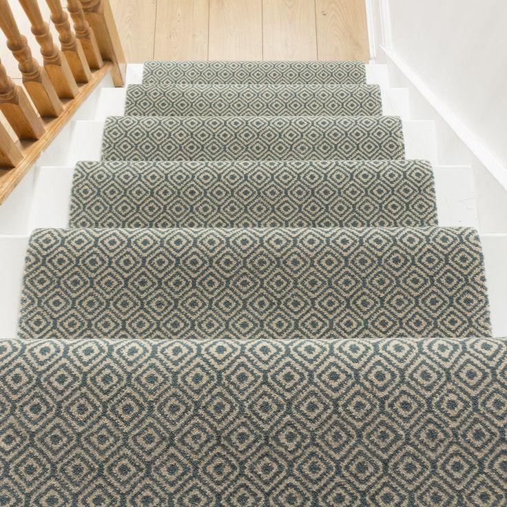 Stair Runner in Duck Egg #CarpetRunners