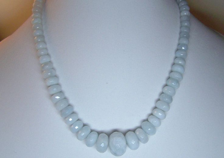 Faceted, Graduated Chunky Aquamarine by ShelbyAnnDesigns on Etsy