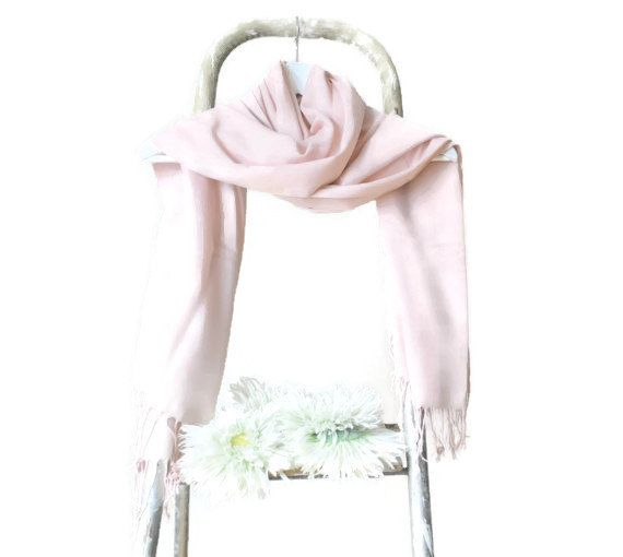 Our New Spring Summer Collection offers you a Radiant and Fashionable New Color Palette for 2015 !!!   Light Pink Shawl, Powder Pink Pashmina , Blush Scarf   . An excellent...