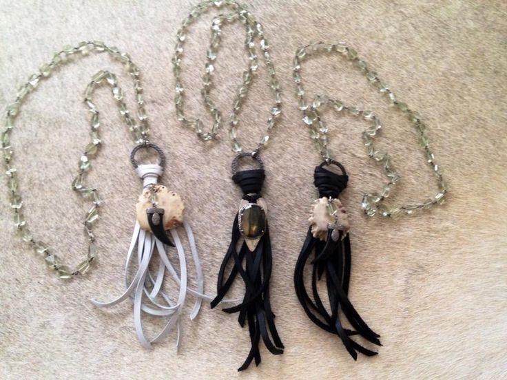Tag/Horn & Tassel Necklace on Gemstones.  http://bit.ly/1w65kTi  www.RachelOlesker.com