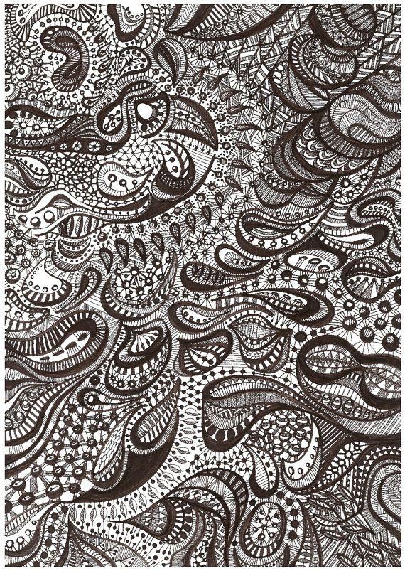 Free Forms Sépia I, Original Illustration