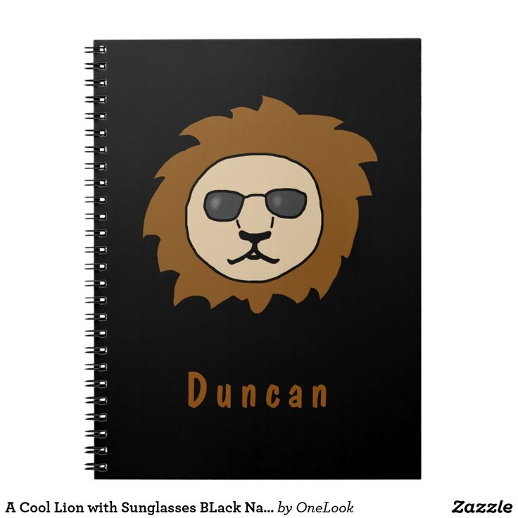 A Cool Lion with Sunglasses BLack Name