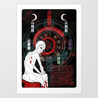 La máscara de la muerte roja Art Print by Elespejo-inc - $14.56    Y se puede comprar!!