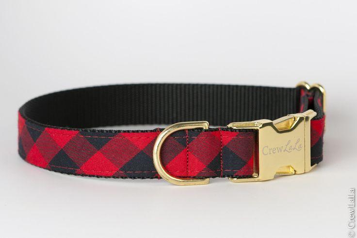 Buffalo Plaid Dog Collar – Crew LaLa