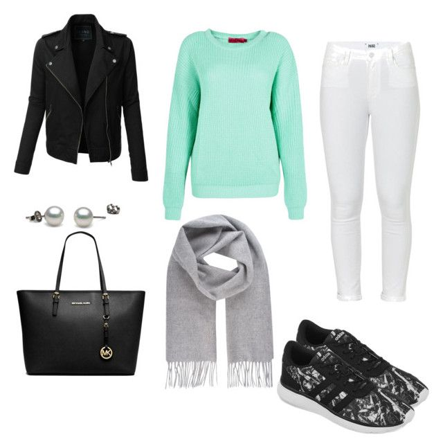"""""""Untitled #21"""" by terka-zelenkova on Polyvore featuring adidas, Paige Denim, Boohoo, LE3NO, Michael Kors and Vivienne Westwood"""
