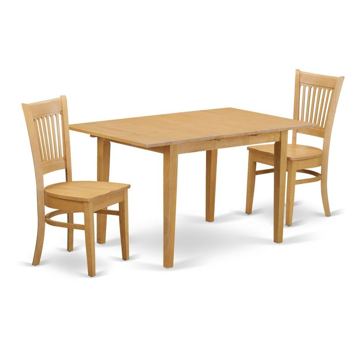 NOVA3-OAK 3-Piece Dining room set - small dining table and 2 dinette chairs
