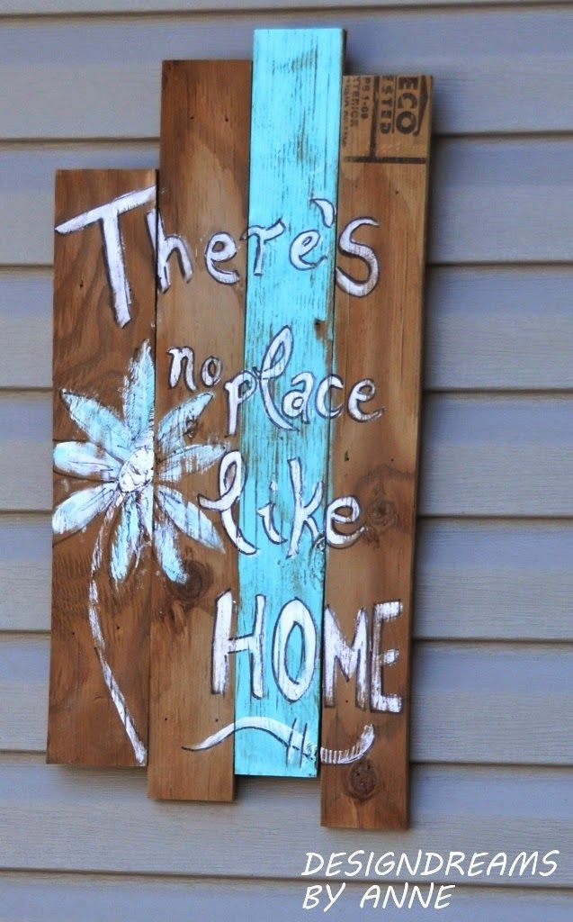 Scrap Wood Welcome Home Sign via DesignDreams by Anne