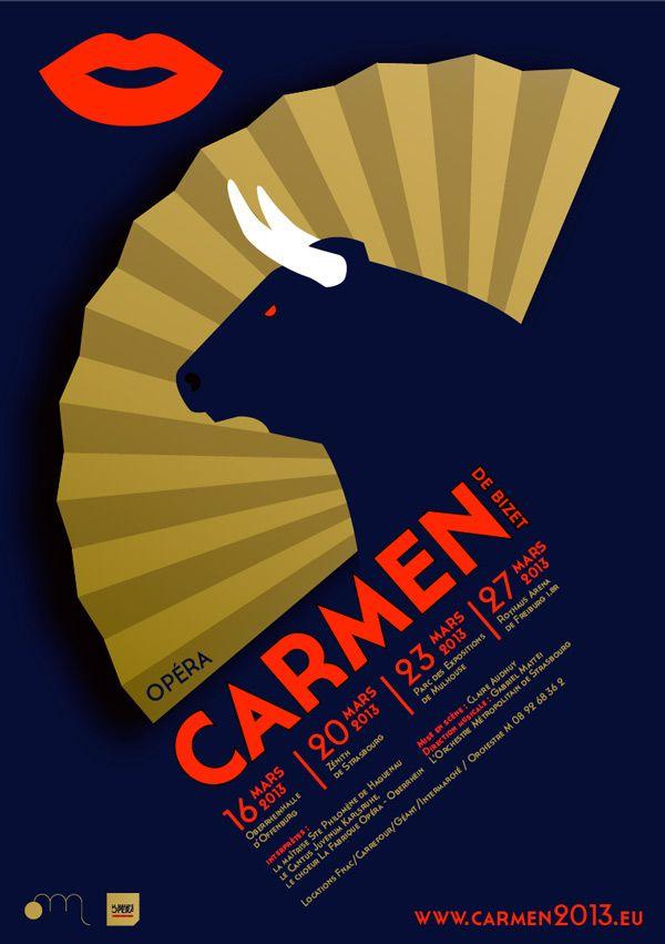 affiche opéra Carmen - Ultragramme