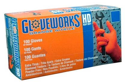 The Best Work Gloves   As important as it is to carry the right gear for roadside emergencies, protecting your hands is also a must. Ammex GWON Gloveworks Orange Nitrile Gloves are stronger and more puncture-resistant than their natural-rubber counterparts, and they're also more resistant to oil, grease, chemicals, and other toxins you'd just as well keep off your hands.