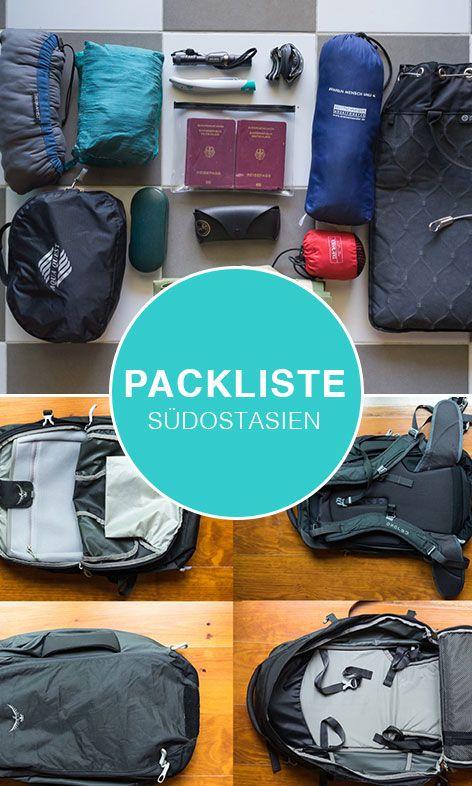 Unsere Packliste für Südostasien. Wir geben dir Tipps zum Packen und zeigen dir, was du auf keinen Fall vergessen darfst.
