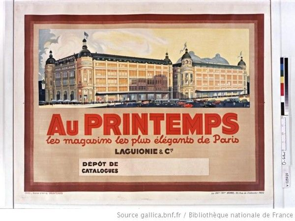 magasins du printemps affiche ancienne affiches paris affiches anciennes affiche et. Black Bedroom Furniture Sets. Home Design Ideas