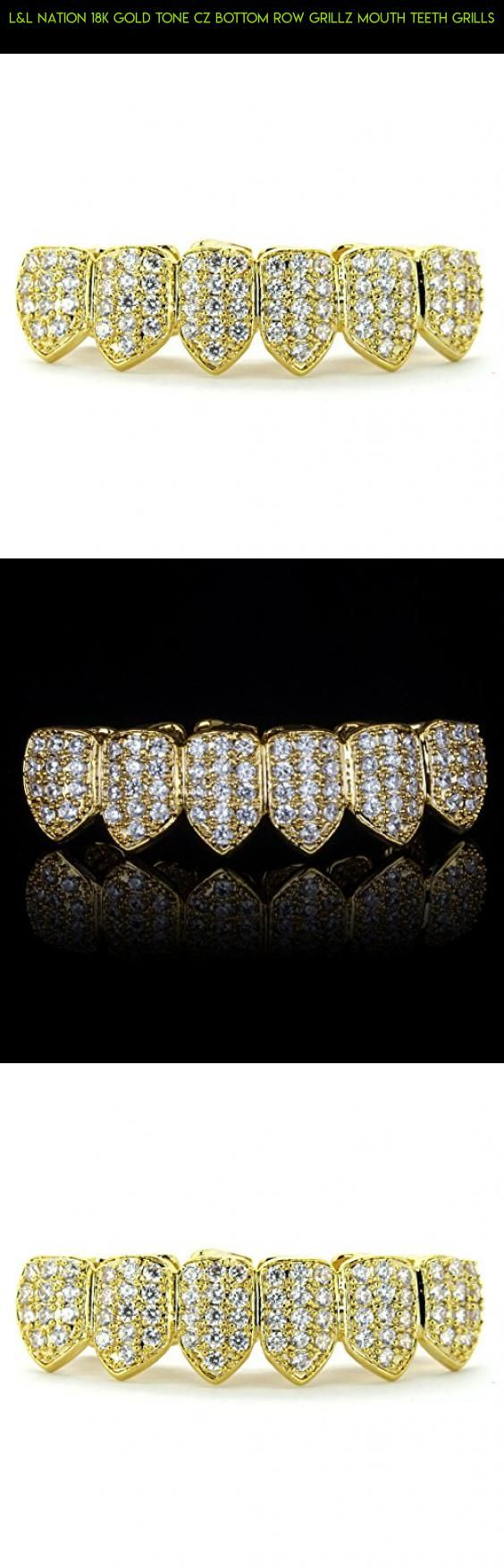 L&L Nation 18K Gold Tone CZ Bottom Row GRILLZ Mouth Teeth Grills #shopping #products #parts #racing #teeth #plans #your #fpv #grills #drone #for #gadgets #camera #tech #technology #bottom #kit
