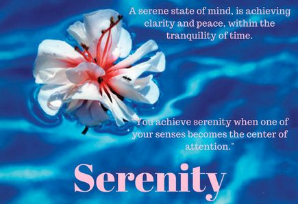 Quotes about serenity.