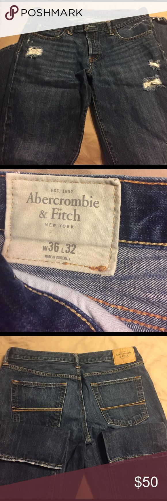 Men's Abercrombie Jeans Abercrombie & Fitch button-fly jeans size 36/32, practically brand new. Worn once or twice Abercrombie & Fitch Jeans Skinny