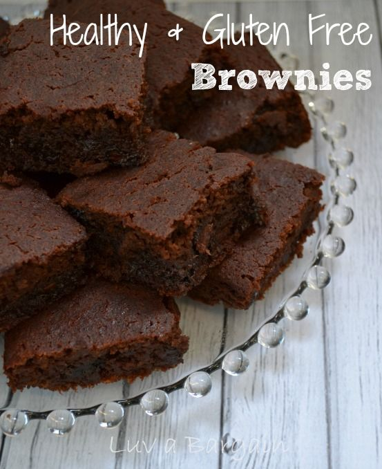 Healthy Gluten Free Brownies. These are amazing and were devoured by my family!