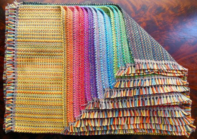 Bonny Dutton - VT. Placemats, all the same warp. Lovely!