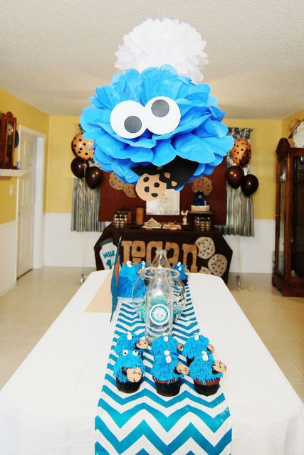 """Photo 9 of 10: Cookies and Milk Party Featuring Cookie Monster! / Birthday """"Logan's Cookie Monster Cookie and Milk party""""   Catch My Party"""