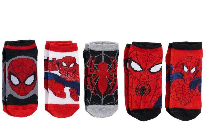 Boys Spiderman 5-pk Low-rise Sock Set
