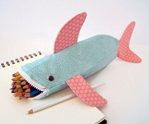 Shark-tastic pencil holder!